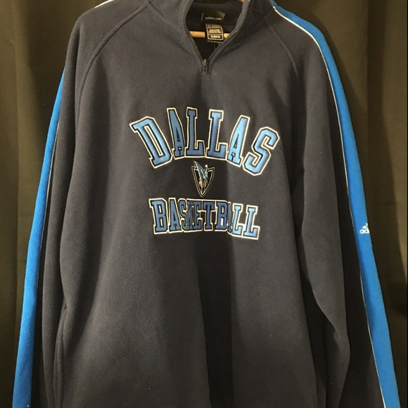 newest 1ae22 3b7c9 Dallas Mavericks Adidas Blue Pullover sweater NWT